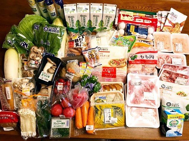 本日の西友ネットスーパーでのお買い物。イトーヨーカドーの方が牛乳が安かったけどお肉が高かったので、やっぱり西友に。レタスが売り切れで残念だった。全部で38個、14,744円でした。#ネットスーパー #西友 #買い物 #買い出し #買い置き #まとめ買い #instalover #instalovers #instalove