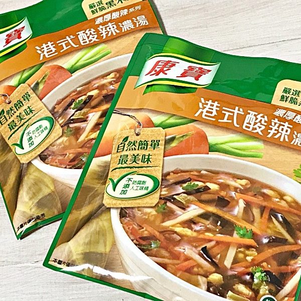 【台湾みやげ】康寶(クノール)港式酸辣濃湯(ホットアンドサワースープ) 〜卵1つで香港の本格的サンラータンスープが出来上がり.