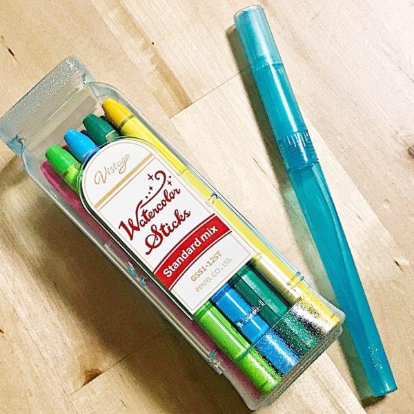 Vistage(ヴィスタージュ)水彩スティック〜携帯に便利な全部が芯の水彩色鉛筆
